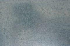 Fondo galvanizado de la placa de acero - textura acanalada inoxidable metálica del cromo Fotografía de archivo