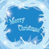 Fondo gelido blu - Buon Natale Illustrazione di Stock