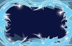 Fondo gelido blu di natale Illustrazione Vettoriale