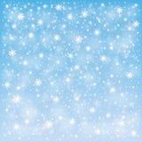 Fondo gelido della neve di inverno Fotografie Stock