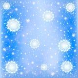 Fondo gelido della neve di inverno Fotografie Stock Libere da Diritti