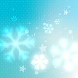 Fondo gelido vago blu illustrazione vettoriale