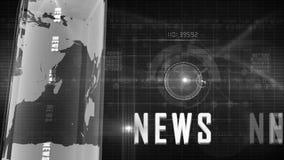 Fondo genérico de las noticias almacen de metraje de vídeo