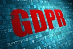 Fondo general de la tecnología de seguridad de la UE de la unión europea de la regulación GDPR de la protección de datos stock de ilustración