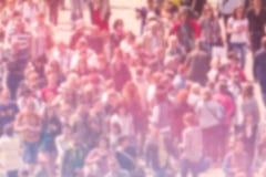 Fondo generale della sfuocatura di opinione pubblica, vista aerea della folla Fotografia Stock