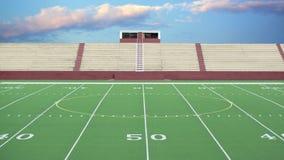 Fondo generico del campo di football americano Fotografie Stock Libere da Diritti