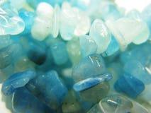 Fondo geologico dei cristalli di geode dell'acquamarina Immagine Stock