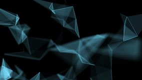 Fondo geométrico abstracto almacen de video
