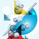Fondo geométrico abstracto Fotos de archivo