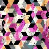 Fondo geométrico abstracto, stock de ilustración