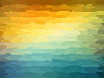 Fondo geométrico abstracto con color anaranjado, azul y amarillo Diseño soleado del verano Imagen de archivo libre de regalías