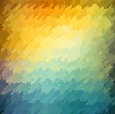 Fondo geométrico abstracto con color anaranjado, azul y amarillo Diseño soleado del verano libre illustration