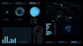 Fondo geométrico abstracto con las líneas, los puntos y los triángulos móviles Tecnología del extracto de la fantasía del plexo ilustración del vector