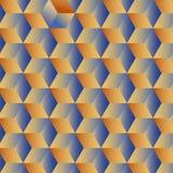 Fondo geométrico abstracto con los cubos Fotografía de archivo