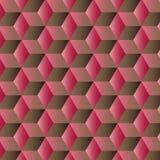 Fondo geométrico abstracto con los cubos Foto de archivo