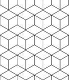 Fondo geométrico abstracto con los cubos isométricos ilustración del vector