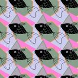 Fondo geométrico abstracto con los pescados Fotos de archivo libres de regalías