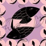 Fondo geométrico abstracto con los pescados Imágenes de archivo libres de regalías