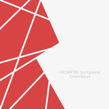 Fondo geométrico abstracto con los polígonos y los triángulos stock de ilustración