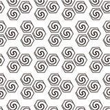 Fondo geométrico abstracto con remolinos Imagen de archivo libre de regalías