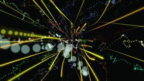 Fondo geométrico abstracto 3D Superficie geométrica en el movimiento almacen de metraje de vídeo