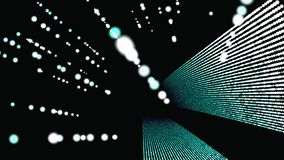 Fondo geométrico abstracto 3D Superficie geométrica en el movimiento stock de ilustración