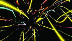 Fondo geométrico abstracto 3D Superficie geométrica en el movimiento metrajes