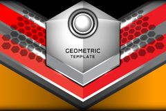 Fondo geométrico abstracto de Alemania Imagenes de archivo
