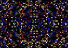 Fondo geométrico abstracto de cuadrados y de triángulos Foto de archivo libre de regalías