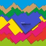 Fondo geométrico abstracto de diversos colores Foto de archivo