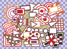 Fondo geométrico abstracto de las dimensiones de una variable Fotografía de archivo