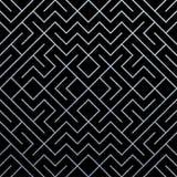 Fondo geométrico abstracto de plata del modelo con textura de la malla del brillo Vector el modelo adornado inconsútil de la geom Foto de archivo