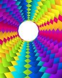 Fondo geométrico abstracto del círculo del arco iris stock de ilustración