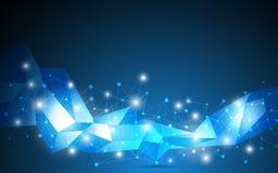 Fondo geométrico abstracto del concepto del establecimiento de una red de Internet del vector Imagen de archivo libre de regalías
