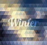 Fondo geométrico abstracto del invierno Stock de ilustración