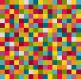 Fondo geométrico abstracto del modelo con los cuadrados coloridos Imagen de archivo libre de regalías
