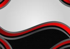 Fondo geométrico abstracto del vector del color negro y rojo con diseño moderno del espacio de la copia Foto de archivo libre de regalías