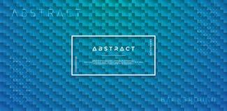Fondo geométrico abstracto del vector con colores de la pendiente Fondo verde y azul con un arreglo más de la forma Vector médico stock de ilustración
