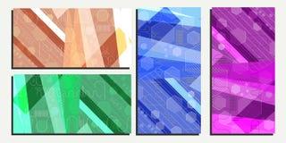 Fondo geométrico abstracto del vector eps10 de los hexágonos Imágenes de archivo libres de regalías