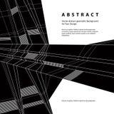 Fondo geométrico abstracto del vector, estilo del techno Fotografía de archivo libre de regalías