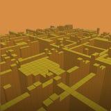 Fondo geométrico abstracto - ejemplo 3d Wireframe perspectiva Fotos de archivo libres de regalías