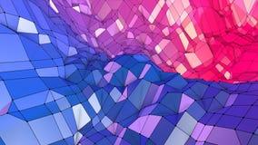 fondo geométrico abstracto polivinílico bajo 3d con colores modernos de la pendiente colores violetas rojos azules superficiales  ilustración del vector