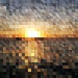 Fondo geométrico abstracto - salida del sol stock de ilustración