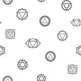 Fondo geométrico abstracto, siete chakras humanos Fotografía de archivo libre de regalías