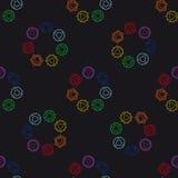 Fondo geométrico abstracto, siete chakras humanos Imágenes de archivo libres de regalías