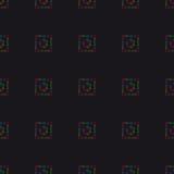 Fondo geométrico abstracto, siete chakras humanos, seaml Imagen de archivo