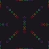 Fondo geométrico abstracto, siete chakras humanos, seaml Imágenes de archivo libres de regalías