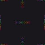 Fondo geométrico abstracto, siete chakras humanos, seaml Foto de archivo