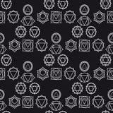 Fondo geométrico abstracto, siete chakras humanos, seaml Foto de archivo libre de regalías
