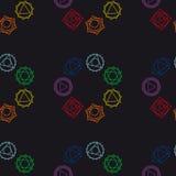 Fondo geométrico abstracto, siete chakras humanos, seaml Fotografía de archivo libre de regalías